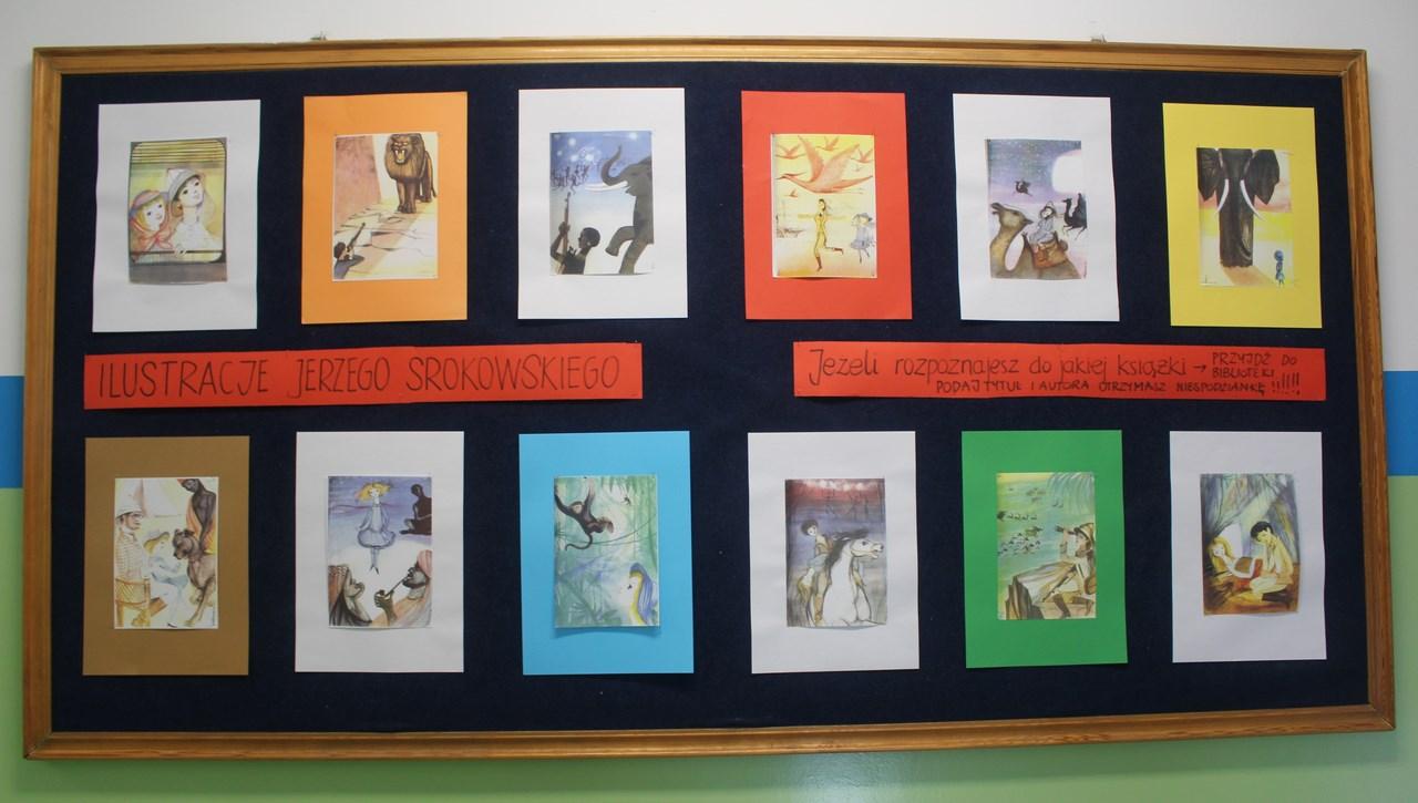 Konkurs biblioteki - ilustracje