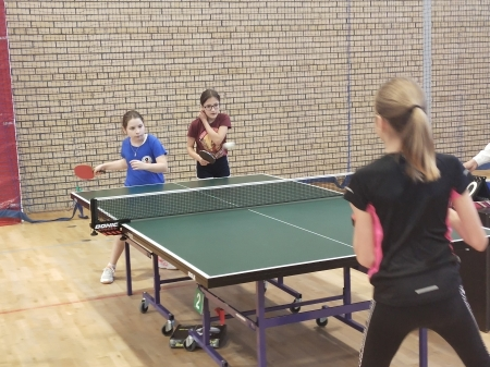 Wicemistrzostwo Igrzysk Dzieci powiatu białostockiego w drużynowym tenisie stołowym
